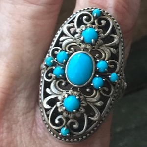 Vintage Sterling Silver Turquoise Ring Thailand